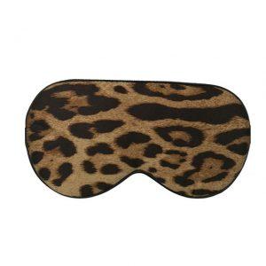 Шелковая маска для сна с леопардовым принтом