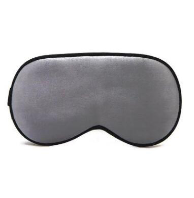 Шелковая маска для сна темно-серая