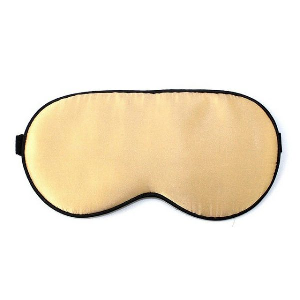 Шелковая маска для сна золотая увеличенной ширины