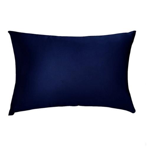 Наволочка из натурального шелка темно-синяя