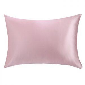 Наволочка из натурального шелка розовая