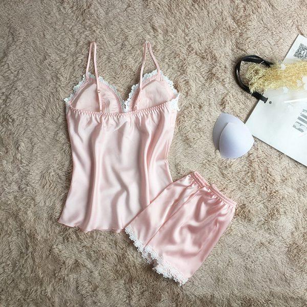 Пижама (майка и шорты) светло-розовая