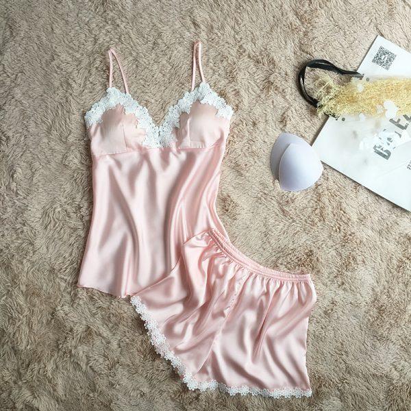 Пижама (майка и шорты) светло-розовая - M