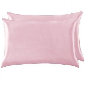 Две шелковые наволочки розовые