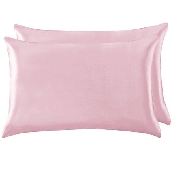 Две наволочки из натурального шелка розовые
