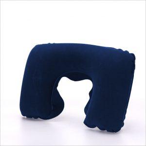 Надувная подушка для путешествий темно-синяя