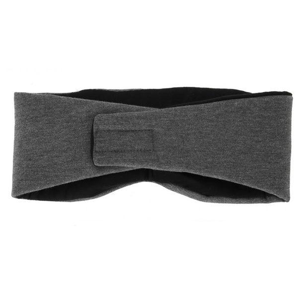 Маска для сна (повязка) хлопковая темно-серая