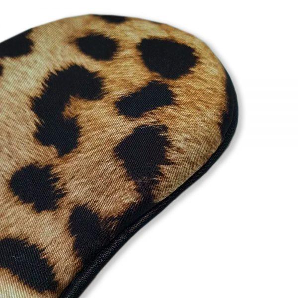 """Маска для сна """"Благородный леопард"""" из итальянского шелка"""