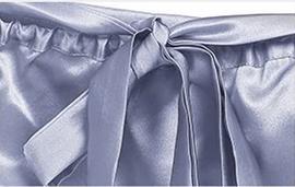 Шапочка для сна из натурального шелка серо-голубая