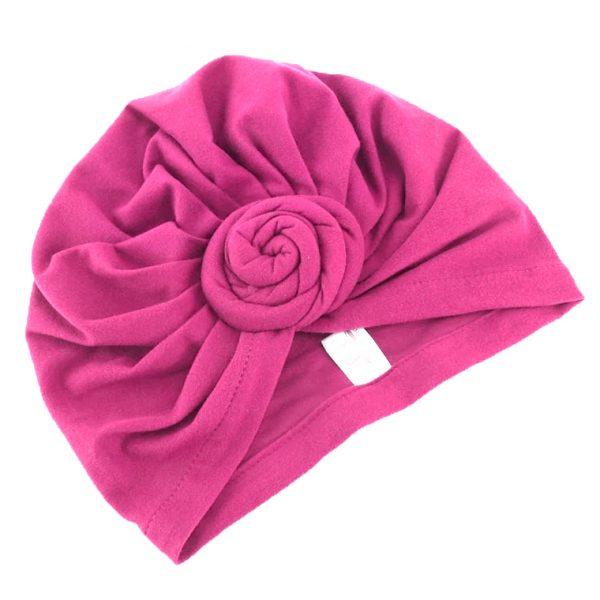 Шапочка для сна из хлопка розовая