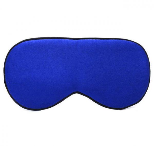 Шелковая маска для сна ярко-синяя увеличенной ширины