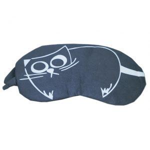 Маска для сна Светлая кошка на сером фоне