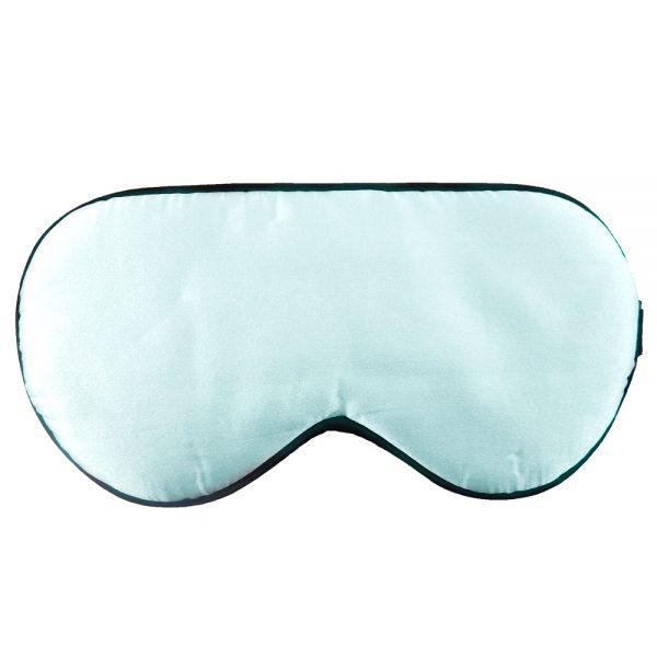 Шелковая маска для сна голубая увеличенной ширины