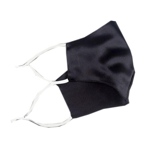 Защитная маска черная из искусственного шелка