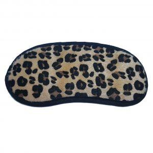 Маска для сна леопардовая из искусственного бархата