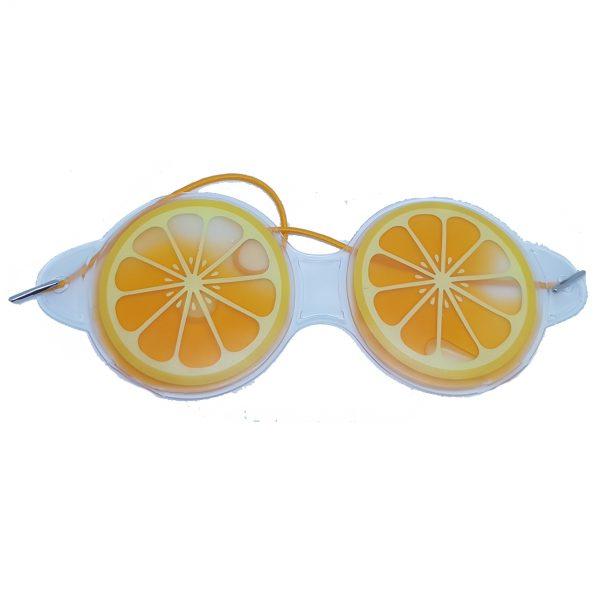 """Охлаждающие очки на глаза """"Апельсин"""" круглые"""