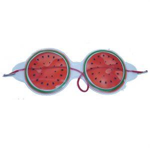"""Охлаждающие очки на глаза """"Арбуз"""" круглые"""