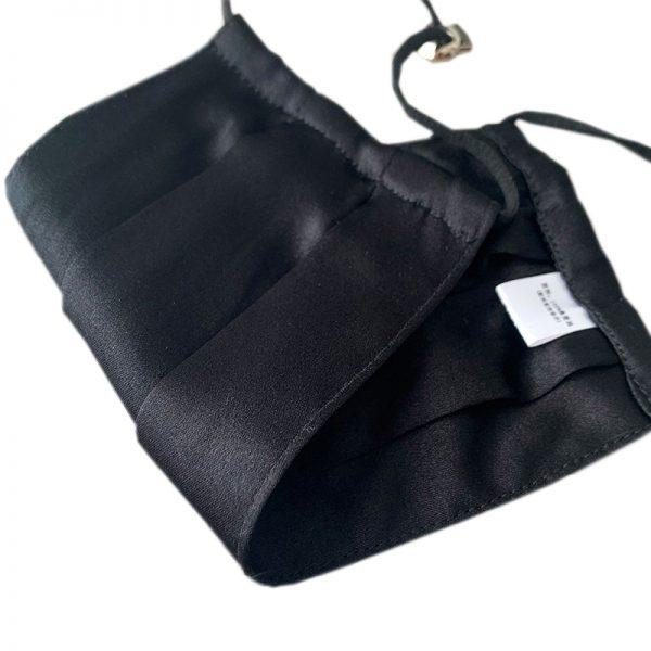 Защитная маска черная из натурального шелка