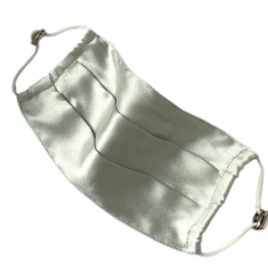 Защитная маска оливковая из натурального шелка