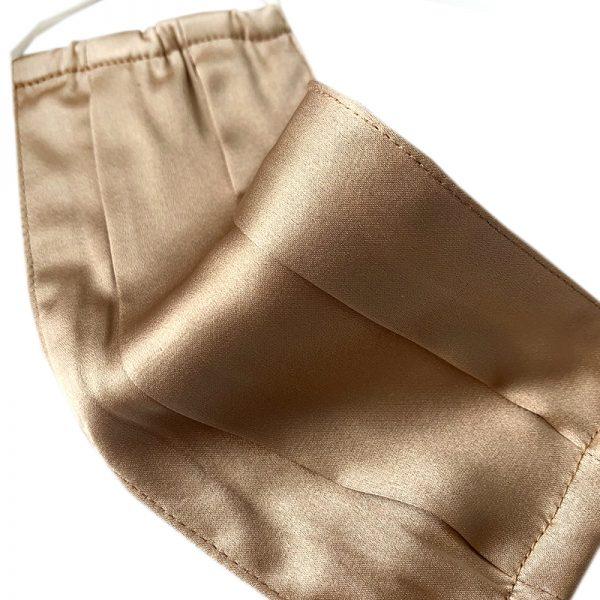 Защитная маска песочная из натурального шелка