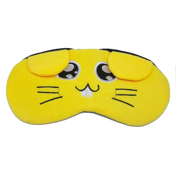 """Маска для сна с охлаждающей вставкой """"Желтый заяц"""""""