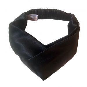 """Эксклюзивная повязка с перехлестом на голову """"Глубокий релакс"""" из итальянского шелка"""