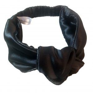 """Эксклюзивная повязка с узлом на голову """"Глубокий релакс"""" из итальянского шелка"""