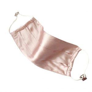 Защитная маска розовая натурального шелка