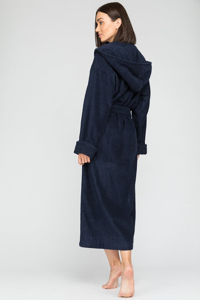 Женский махровый халат с капюшоном Sport&Style (Е 903)