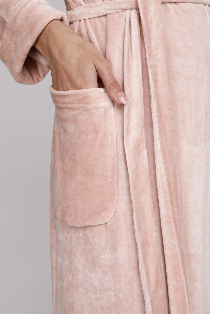 Элегантный велюровый халат из вискозы Passion (PM France 807)