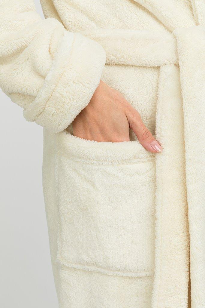 Удлиненный пушистый халат из велсофта Tendre (PM France 745)