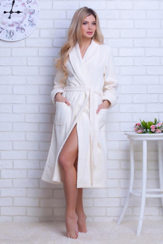 Женский облегченный махровый халат Light (E 701)