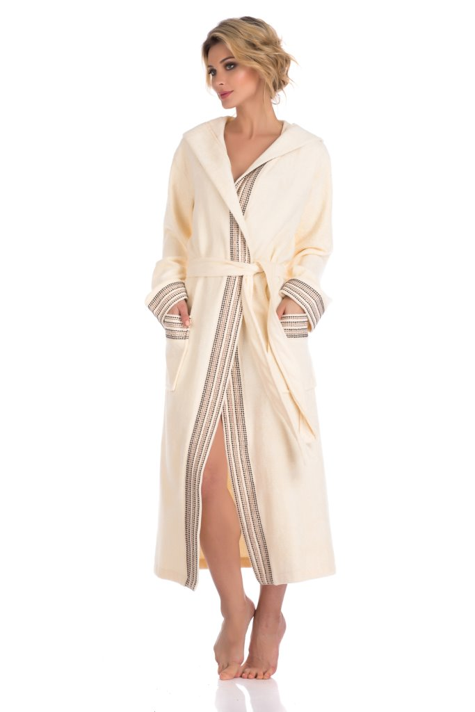 Бамбуковый махровый халат с капюшоном Le Voyageur (PM 931)