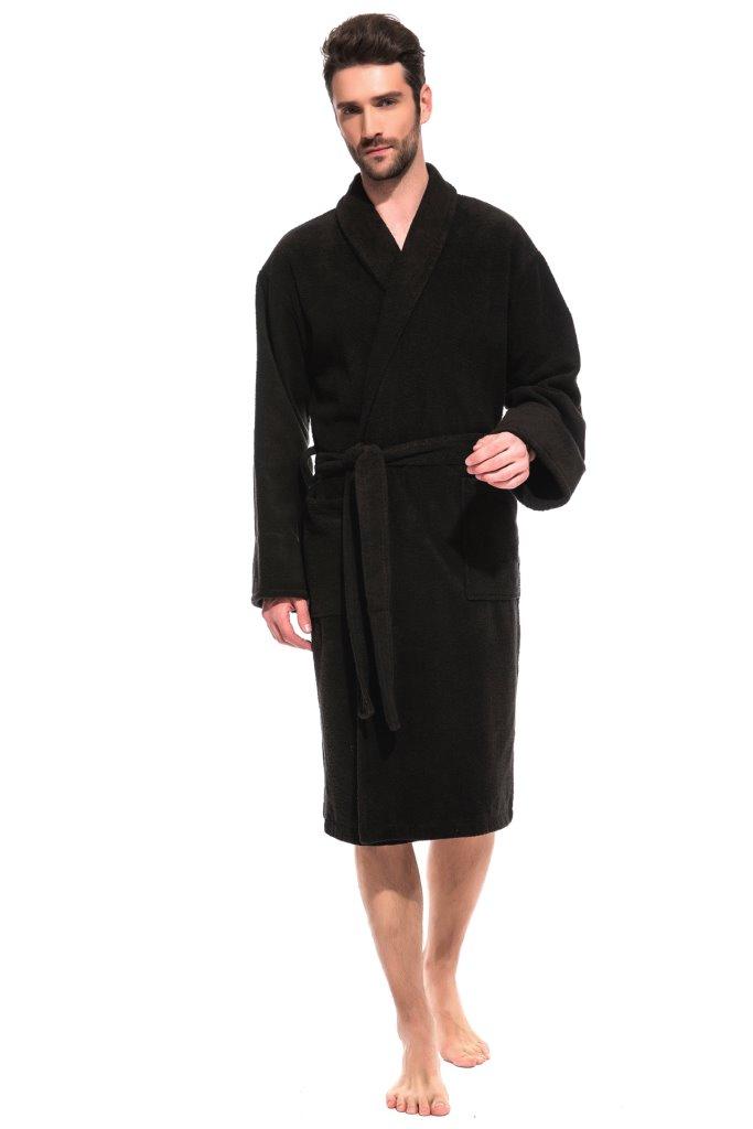 Банный махровый халат Black Label (Е 363/5)