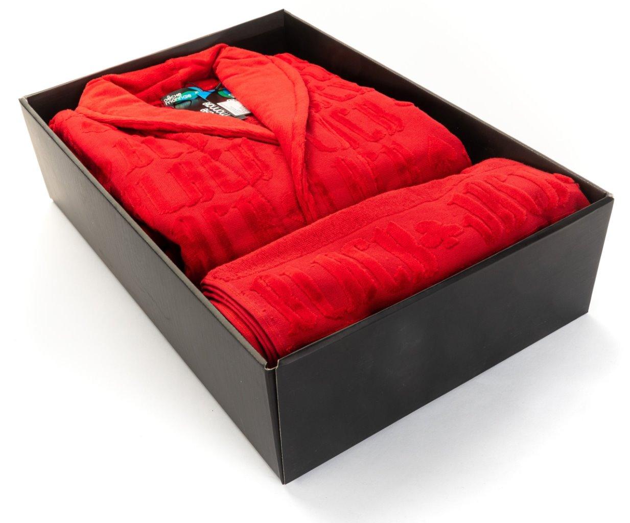 Набор: халат и полотенце Black Jack в подарочной коробке (PM France)
