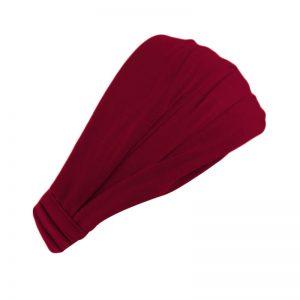 Хлопковая повязка на голову (бандана) бордовая