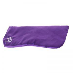 Подушка для глаз для йоги шелковая фиолетовая