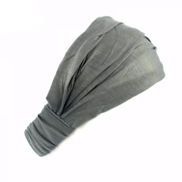 Хлопковая повязка на голову (бандана) серая