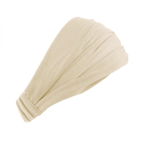 Хлопковая повязка на голову (бандана) бежевая