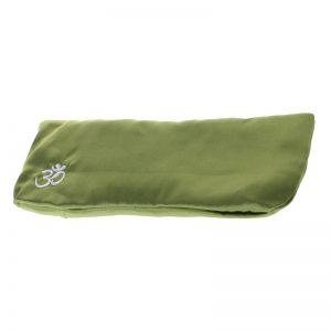 Подушка для глаз для йоги шелковая зеленая