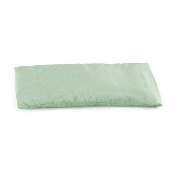 Подушка для глаз для йоги шелковая светло-зеленая