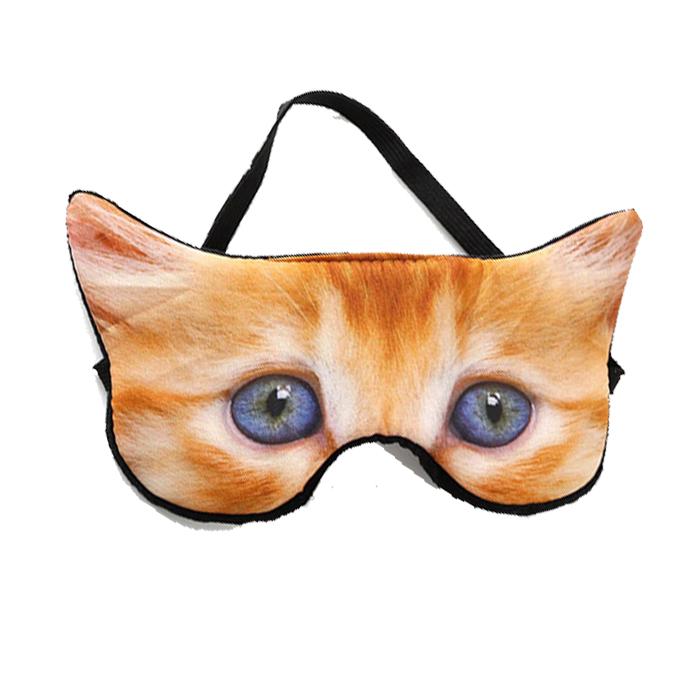 Маска для сна веселая Рыжий котенок